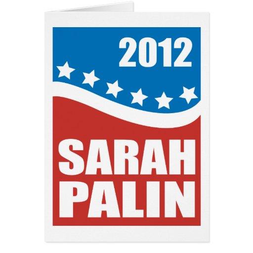 Azul blanco rojo de Sarah Palin Felicitación