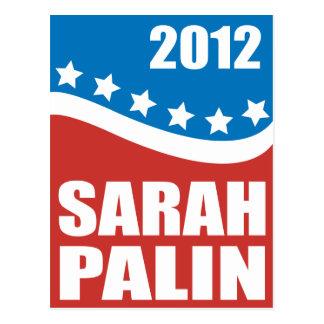 Azul blanco rojo de Sarah Palin Tarjetas Postales