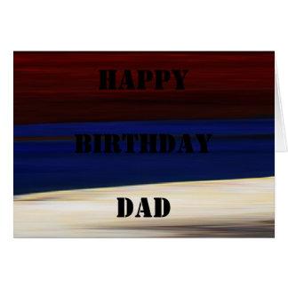 Azul blanco rojo del cumpleaños de la tarjeta