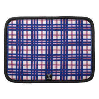 Azul blanco rojo del modelo de la tela escocesa de planificador