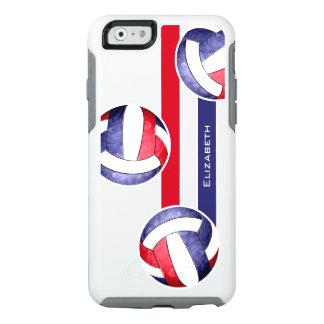 azul blanco rojo del voleibol de las mujeres funda otterbox para iPhone 6/6s