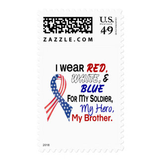 Azul blanco rojo para mi Brother Sellos