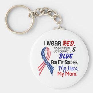 Azul blanco rojo para mi mamá llavero