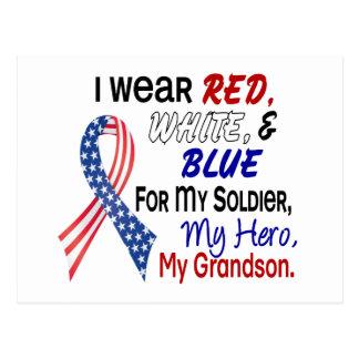 Azul blanco rojo para mi nieto postales