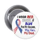 Azul blanco rojo para mi papá pin