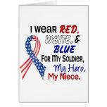 Azul blanco rojo para mi sobrina felicitación