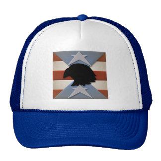 Azul blanco rojo patriótico con Eagle Gorros