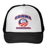 Azul blanco rojo v3 del baloncesto de Obama Gorro De Camionero