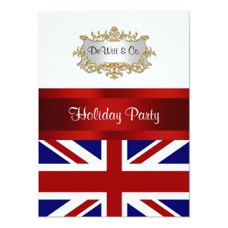 """Azul blanco rojo V de Inglaterra de la bandera de Invitación 5.5"""" X 7.5"""""""