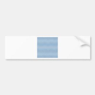 Azul blanco y de acero del zigzag - pegatina de parachoque