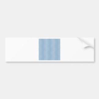 Azul blanco y de acero del zigzag - etiqueta de parachoque