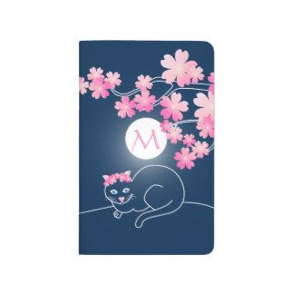 Azul bonito de Sakura del rosa de la luna de las Cuadernos
