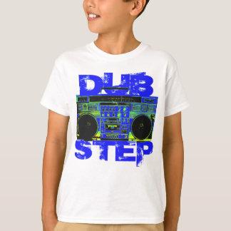 Azul Boombox de Dubstep Playera