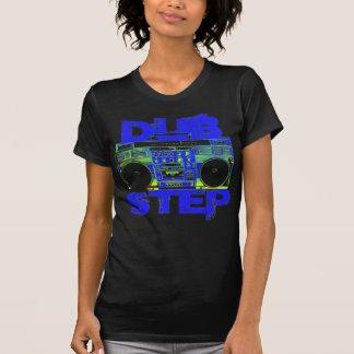Azul Boombox de Dubstep Camisetas