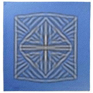 azul borroso del símbolo servilleta imprimida