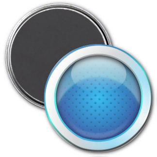 Azul brillante de la bola del imán