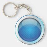 Azul brillante de la bola del llavero