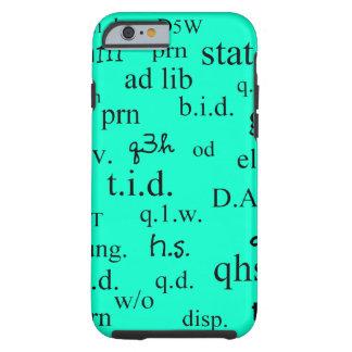 Azul brillante de las abreviaturas del caso del funda para iPhone 6 tough
