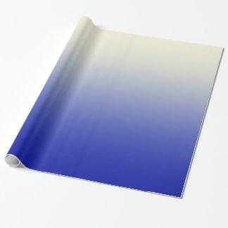 Azul brillante de moda a la pendiente blanca de papel de regalo