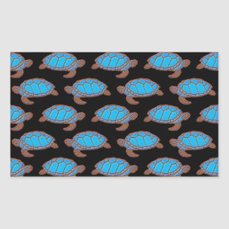 Azul brillante del modelo de la tortuga de mar en rectangular altavoces
