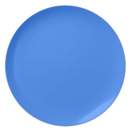 Azul brillante platos de comidas