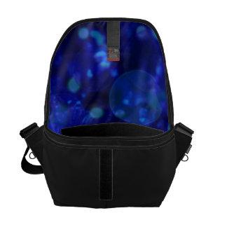 azul brillante y brillante, manchado de tinta bolsas de mensajeria