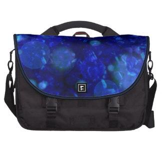 azul brillante y brillante, manchado de tinta bolsas para portatil