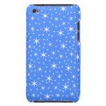 Azul brillante y el blanco protagoniza Pern. Barely There iPod Protector