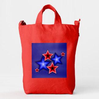 Azul brillante y el rojo protagoniza el bolso rojo bolsa de lona duck