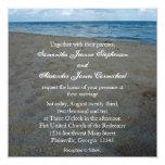 Azul+Brown enarena invitaciones del boda de playa Invitacion Personalizada