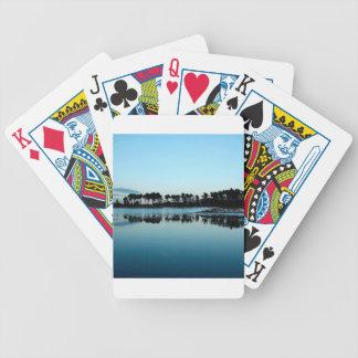 Azul brumoso del lago frío water baraja cartas de poker