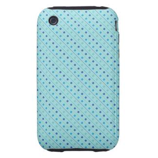 azul caliente del lunar del caso del iPhone 3G/3GS Tough iPhone 3 Cárcasa