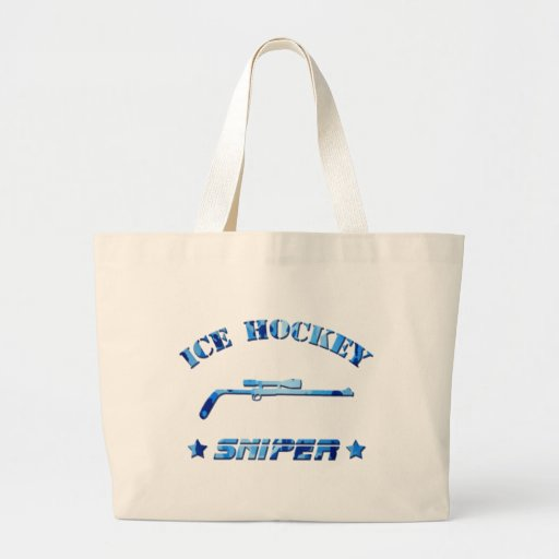 Azul Camo del francotirador del hockey sobre hielo Bolsas De Mano