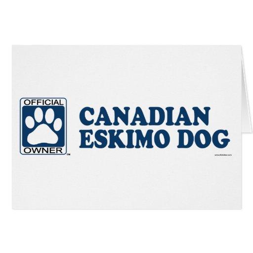 Azul canadiense del perro esquimal tarjeta de felicitación