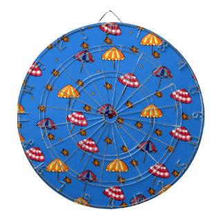 Azul caprichoso del arte popular de los parasoles  tabla dardos