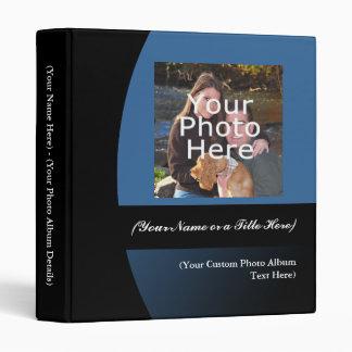 """Azul/carpeta personalizada negro del álbum de foto carpeta 1"""""""