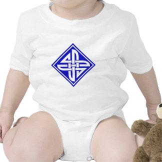 Azul céltico del nudo 2 traje de bebé