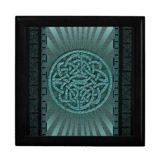 Azul céltico del vintage elegante del victorian caja de regalo