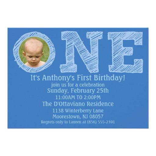 Azul cerúleo el un primer cumpleaños grande de la  anuncio
