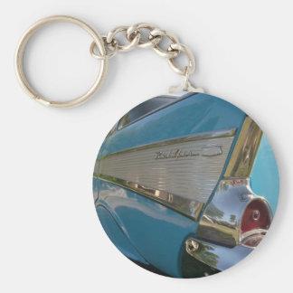 azul Chevy 1957 Llaveros Personalizados