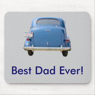 Azul Chevy del vintage Mouse Pad