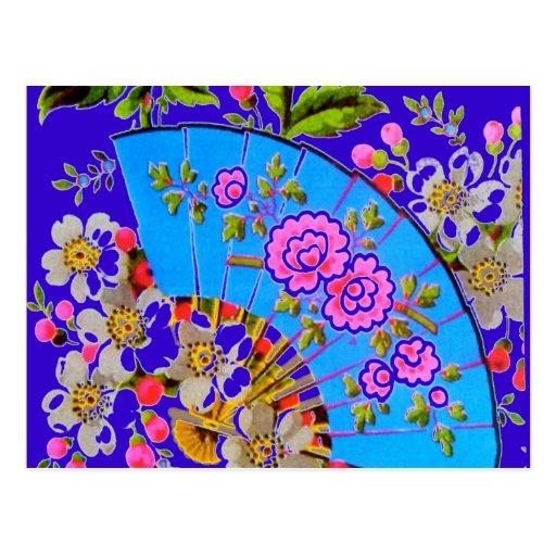 """Azul chino de la fan """"reserva postal de la fecha"""""""