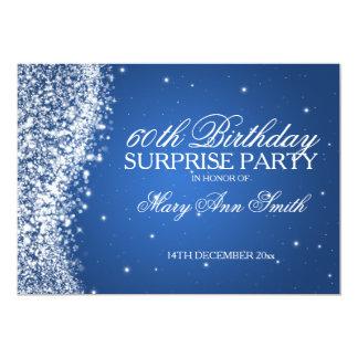 Azul chispeante de la onda de la fiesta de invitación 12,7 x 17,8 cm