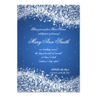 """Azul chispeante de la onda de la fiesta de invitación 5"""" x 7"""""""