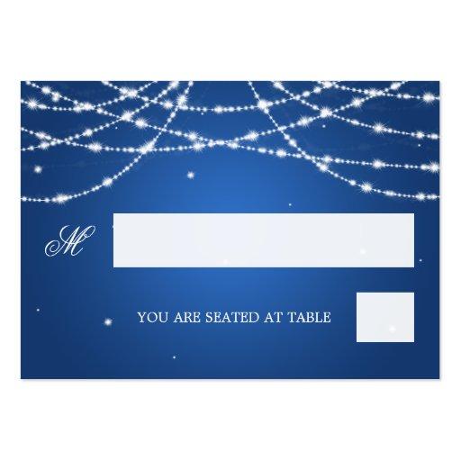 Azul chispeante de la secuencia de Placecards del Tarjetas De Visita