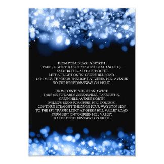 """Azul chispeante del zafiro de las luces de las invitación 4.5"""" x 6.25"""""""
