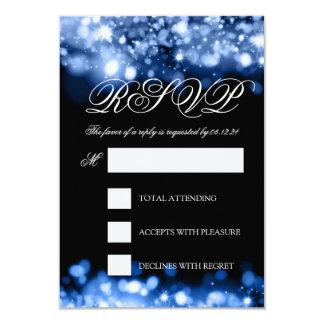 "Azul chispeante del zafiro de las luces de RSVP Invitación 3.5"" X 5"""