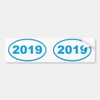 azul ciánico 2019 pegatina para auto