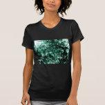 """Azul ciánico """"dañado"""" del árbol camiseta"""