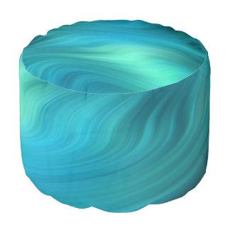 Azul ciánico de las ondas suaves + sus ideas puf redondo